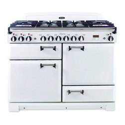 AGA Dual Fuel Range With Solid Door, Vintage White - Aga ranges harken back to a time when machines were elegant as well as functional.