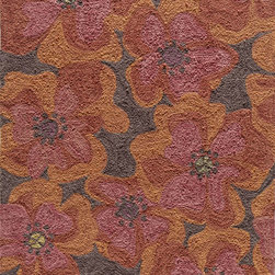 Momeni - Momeni Summit Raspberry Red Flowers Transitional 8' x 10' Rug by RugLots - Inspired by its surroundings, Summit is a casual collection of hand-hooked rugs in bold floral and ethnic patterns. Made of 100% polyester.