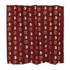 College Covers - NCAA Florida State Seminoles Shower Curtain FSU Bathroom - Features: