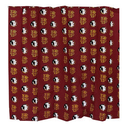 College Covers - NCAA Florida State Seminoles Shower Curtain FSU Bathroom - Features: