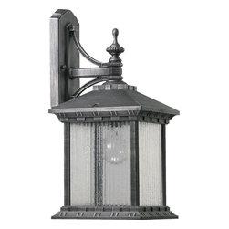 Joshua Marshal - One Light Rustic Silver Wall Lantern - One Light Rustic Silver Wall Lantern