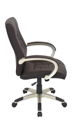 """Lumisource - Category Office Chair, Chocolate + Champagne - 25""""L x 23 W x 37.5"""" min. H / 40"""" max. H"""