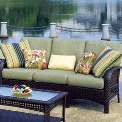 Martinique Outdoor Wicker Sofa, South Sea Rattan -