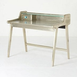 Anthropologie - Silvered Writing Desk - *Mango wood, MDF, metal
