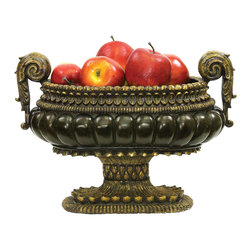 Mediterranean Decorative Centerpiece Display Bowl - *Dimensions: 10L x 17W x 12H