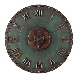 """Sterling Industries - Sterling Industries 128-1004 31.5"""" Height Metal Roman Numeral Outdoor Wall Clock - Specifications:"""