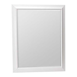 """RSI HOME PRODUCTS - White Mirror 30 x 36 - White framed mirror 30""""W x 36""""H. Includes hanging hardware."""