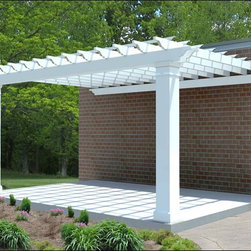 Fifthroom - Fiberglass 2-Beam Wall Mount Pergolas -