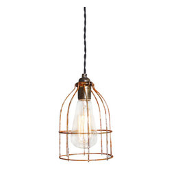The Pepin Shop - Cage Filament Pendant - Original Lamps from 20th-century industrial lighting.