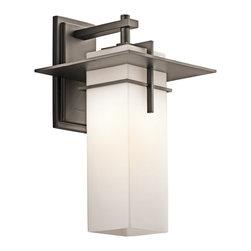 Kichler Lighting - Kichler Lighting 49644OZ Caterham Modern / Contemporary Outdoor Wall Sconce - Kichler Lighting 49644OZ Caterham Modern / Contemporary Outdoor Wall Sconce