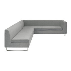 Blu Dot Blu Dot Bonnie and Clyde Sectional Set - BO1-SFWARMS and BO1-SNWARMS - These two sofas have very sleek lines that are at home in any contemporary or midcentury room.