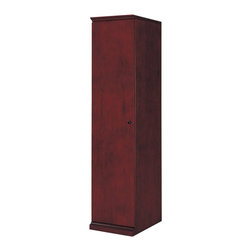 DMi Furniture - DMi Del Mar Single Door Storage Wardrobe - DMi Furniture - Storage Cabinets - 730205 - With its striking Sapele Pomele veneers Sedona Cherry finish and subtle Shaker influences Del Mar is a handsome alternative to the customary traditional office environment.