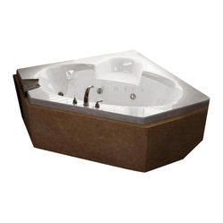 Atlantis Whirlpools - Atlantis Whirlpools 6060SWL Sublime Bathtub - Non-porous surface for easy cleaning and sanitizing