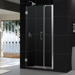 """DreamLine - DreamLine SHDR-20407210-04 Unidoor Shower Door - DreamLine Unidoor 40 to 41"""" Frameless Hinged Shower Door, Clear 3/8"""" Glass Door, Brushed Nickel Finish"""