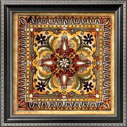 Artcom - Italian Tile II by Ruth Franks - Italian Tile II by Ruth Franks is a Framed Art Print set with a PARMA Black wood frame.