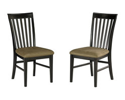 Atlantic Furniture - Atlantic Furniture Mission Side Chair in Espresso (Set of 2) - Atlantic Furniture - Dining Chairs - AD771131 - The Atlantic Furniture Mission Dining Side Chairs are constructed from Eco-friendly solid hardwood and have an elegant Espresso wood finish. This set of two dining side chairs feature a vertical slat back design and a Cappuccino colored seat cushion. The Mission Dining Side Chairs are perfect for a casual dining room setting.