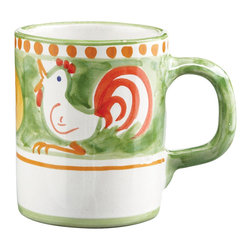 Vietri - Campagna Gallina Mug - The Campagna series features whimsical hand-painted farm animals.