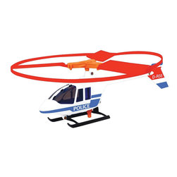The Original Toy Company - The Original Toy Company Kids Children Play Police Helicopter - Free flying model police helicopter with speed launcher, excellent flying machine. Age: 6 year & up. Weight: 1 lbs.