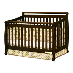 AFG Baby Furniture - Amy Convertible Crib with Toddler Rail Espresso - Featuring a round bar design across a sleigh style crib, the Amy 3 in 1 Convertible Crib combines timeless style and long-term durability into a popular crib with many standard features such as 4-level mattress support which can be adjusted throughout your baby's growth, solid wood construction, and toddler bed and full-size conversions. Wider, thicker slats on all sides of the crib lend durability to the entire crib structure. Guardrail included and full-size conversion rails sold separately. All Athena products meet and exceed the latest US safety standards. The Amy crib is a simple and charming crib perfect for your modern nursery.
