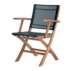 Barlow Tyrie - Horizon Teak Folding Carver Chair - Charcoal