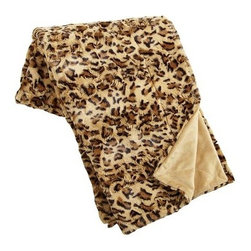 Fuzzy Throw, Leopard - Throws are a great way to add pattern to the back of a sofa, chair or the foot the bed.