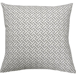 Elisabeth Michael - Elisabeth Michael Erin Storm Gray Throw Pillow -