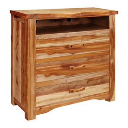 Artisan Home Furniture - Artisan Home Guamuchil 3-Drawer Media Chest in Natural - Heavy, solid wood provides a rich look with a natural two-tone. finish enhances and protects natural beauty of wood. Adds value and intrinsic detail completes the Artisan look. Durable, smooth operating drawers.