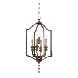 Minka Lavery - Minka Lavery 4126-563 Candlewood 4 Light Rustique Patina 4 Light Foyer Pendant - Features: