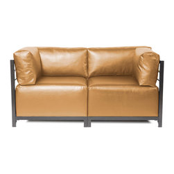 Howard Elliott - Howard Elliott Shimmer Gold Axis 2pc Sectional - Titanium Frame - Axis 2pc sectional shimmer gold titanium frame