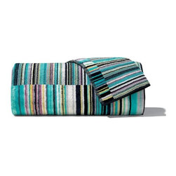 Missoni Home - Missoni Home | Jazz Blue Bath and Hand Towel 5 Piece Set - Design by Rosita Missoni.