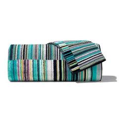 Missoni Home - Missoni Home | Jazz Blue Bath and Hand Towel 5 Piece Set - Design by Rosita Missoni.