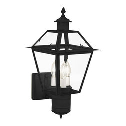 Norwell Lighting - Norwell Lighting 2233 3 Light Outdoor Wall Sconce from the Lexington Collection - Traditional / Classic 3 Light Outdoor Wall Sconce from the Lexington CollectionA simplified and smaller version of the popular Beacon lantern, the Lexington conveys a historic reference to early America with the candelabra lamp at the center.Features: