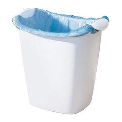 Rubbermaid - Rubbermaid Recycle Bag Wastebasket (8-Pack) (238500-WHT) - Rubbermaid 238500-WHT Recycle Bag Wastebasket