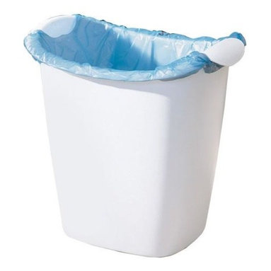 Rubbermaid - Rubbermaid Recycle Bag Wastebasket (8-Pack) (238500-WHT) - Rubbermaid 238500-WHT Recycle Bag Wastebasket