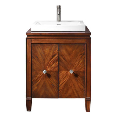 Avanity - Brentwood 25 in. Vanity Only - Shining star. This gorgeous vanity has an eye-catching starburst design on the doors and great transitional styling that makes it perfectly at home in traditional and contemporary spaces alike. The small footprint will fit perfectly in your guest bath.