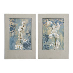 Blossoms Framed Art, Set of 2