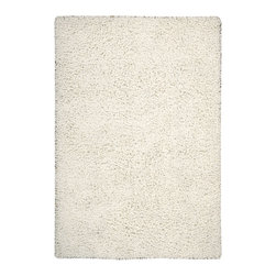 """Nourison - Nourison Zen Solid White 7'6"""" x 9'6"""" Rug by RugLots - The shag is back with Zen. This hip, eclectic shag rug looks and feels fabulous. The collection features a luxurious, soft pile and rich, lustrous colors. These super-plush and funky rugs provide a unique decorating option."""