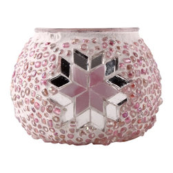 Art-Win Lighting CH11006 Handmade Mosaic Candle Holder, Pink - Handmade in Istanbul, Turkey. Hand-crafted item is produced with glass-on-glass technique. Tradition of centuries is now available for you. Fine handmade mosaic lamps that require years of experience and specialized craftsmanship are carefully manufactured by Art-Win Lighting.