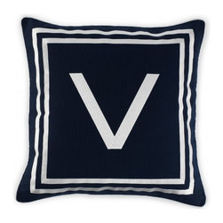 Monogram Pillow Cover, V - Nothings spells chic elegance like a monogrammed pillow. Throw them around your private quarters and claim your space.