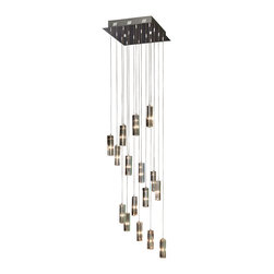 Trend Lighting - Icarus Falling 16 Light Chandelier - You'll fall for this chic chandelier, all 16 dazzling lights and long lines. A captivating cascade of cut crystal and polished chrome, it's sleekly modern and totally striking.