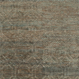 Surya - Surya Galloway GLO-1004 (Teal, Ivory, Chocolate) 5' x 8' Rug - This Hand Knotted rug would make a great addition to any room in the house. The plush feel and durability of this rug will make it a must for your home. Free Shipping - Quick Delivery - Satisfaction Guaranteed