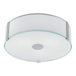 Eglo Lighting - Varano 91254A - Ceiling Lamp | Eglo - Eglo Lighting Varano�_91254A�_Ceiling Lamp features�_chrome finish with coated white shade. Manufacturer:�_Eglo LightingSize:�_16.1 in. diameter x 5.8 in. height Light Source:�_3 x 60 watt A19 - not included Certifications: ETL Location: Dry Dimmable w/ standard incandescent dimmer - not included