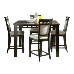 Standard Furniture - Standard Furniture Gateway 5-Piece Counter Dining Room Set - Impressive proportions and bold styling give Gateway Dining a dynamic contemporary personality.