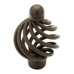 Liberty Hardware - Liberty Hardware 65101RB Oil Rubbed Bronze - Avante 2.09 Inch Birdcage Knob - The whimsical design of this unique knob provides beauty and character to your cabinetry or furniture. Available in multiple colors. Width - 2.09 Inch, Height - 1.3 Inch, Projection - 0.98 Inch, Finish - Rubbed Bronze II, Weight - 0.09 Lbs.