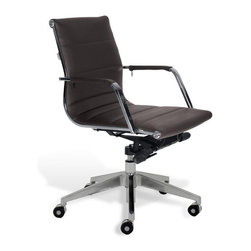 Jesper Office Furniture - Sofia Low-Back Office Chair -Brown - Features: