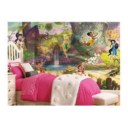 RoomMates - RoomMates Disney Fairies Pixie Hollow Mural Multicolor - JL1279M - Shop for Murals from Hayneedle.com! Turn your little girls bedroom into a fairy haven with the RoomMates Disney Fairies Pixie Hollow Mural. Decorative and fun the fairies of Pixie Hollow dance and celebrate within their forest home. To install simply soak each pre-pasted panel in warm water then smooth it onto the wall. Once all the panels are in place step back and enjoy!About Roommates:Roommates a subsidiary of York Wallcoverings Inc. creates some of the most versatile and unique wall decor you'll find. Their innovative wall decals feature a removable and endlessly reusable design allowing you to move and rearrange your decals as often as you like all without causing any damage to your walls or furnishings. This means you can apply them without worry or headache since you don't have to get the application perfect the first time. RoomMates work on any smooth surface and are particularly ideal for temporary decorating such as around the holidays. All RoomMates products are proudly made in the USA and are made from non-toxic materials so they're as safe for your kids and pets as they are for your walls.