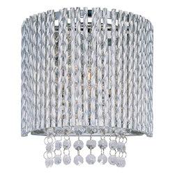 ET2 Lighting - ET2 Lighting E23130-10PC Spiral Polished Chrome Wall Sconce - 1 Bulb, Bulb Type: 60 Watt G9 Xenon, Bulb Included
