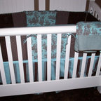 Bedding - Custom baby bedding: bumper pads, comforter, bed skirt and sheets