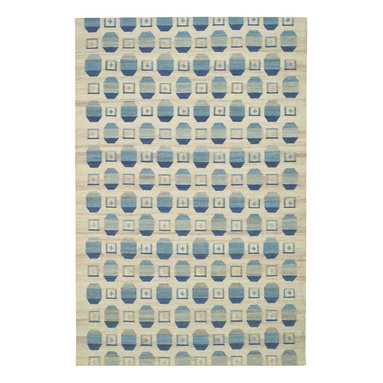 Chesterfield rug in Stream - A fresh take on an ingrain pattern dating back to the nineteenth century, Chesterfield offers a textural, casual appeal suitable for environments from modern to mission. 100% wool, woven in India.