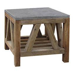 Bluestone Coffee Table - Reclaimed pine and bluestone finished in light wax make this a coffee table that truly helps bring the outdoors in.